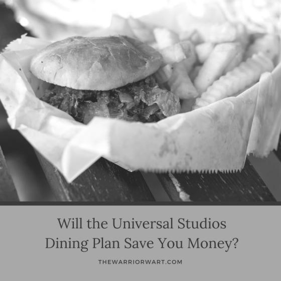 Universal Studios Dining Plann