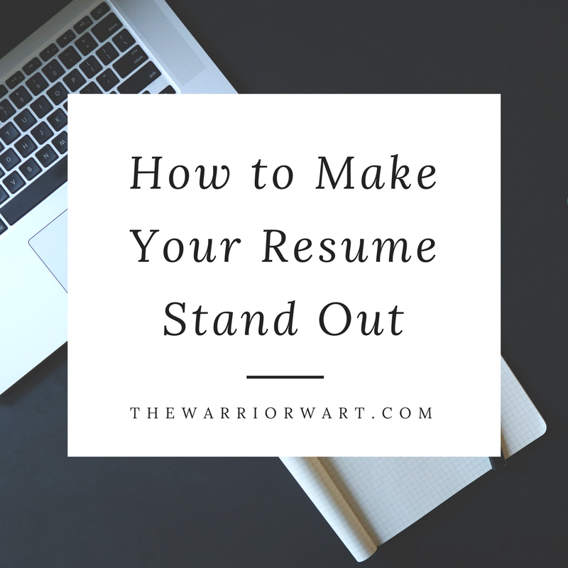 How To Make Your Resume Stand Out  How To Make Your Resume Stand Out